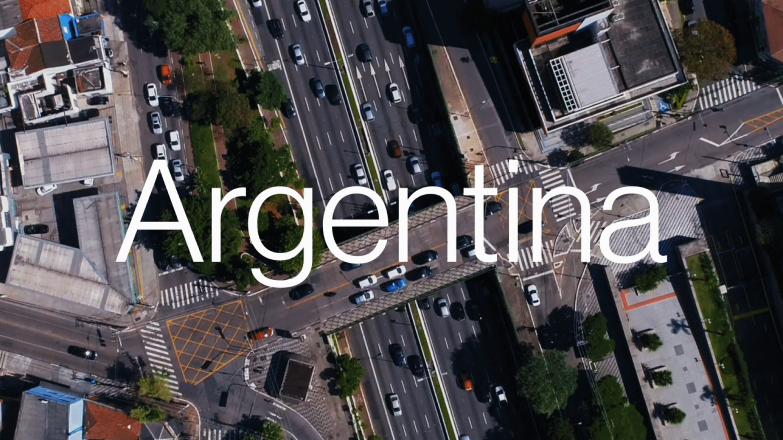 Photo of Argentina, overlaid with the world Argentina