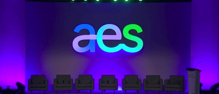 AES Presentation Stage with Chairs